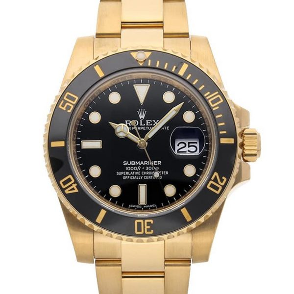 Rolex Submariner Replica 116618LN Black Bezel 40MM