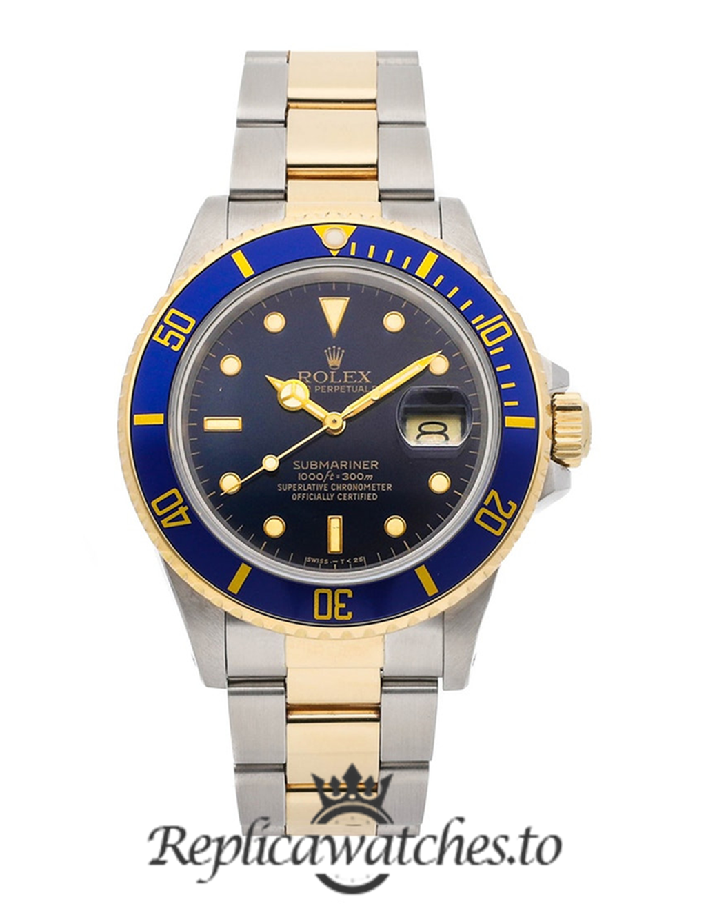 Rolex Submariner Replica 16083 Blue Bezel 40MM