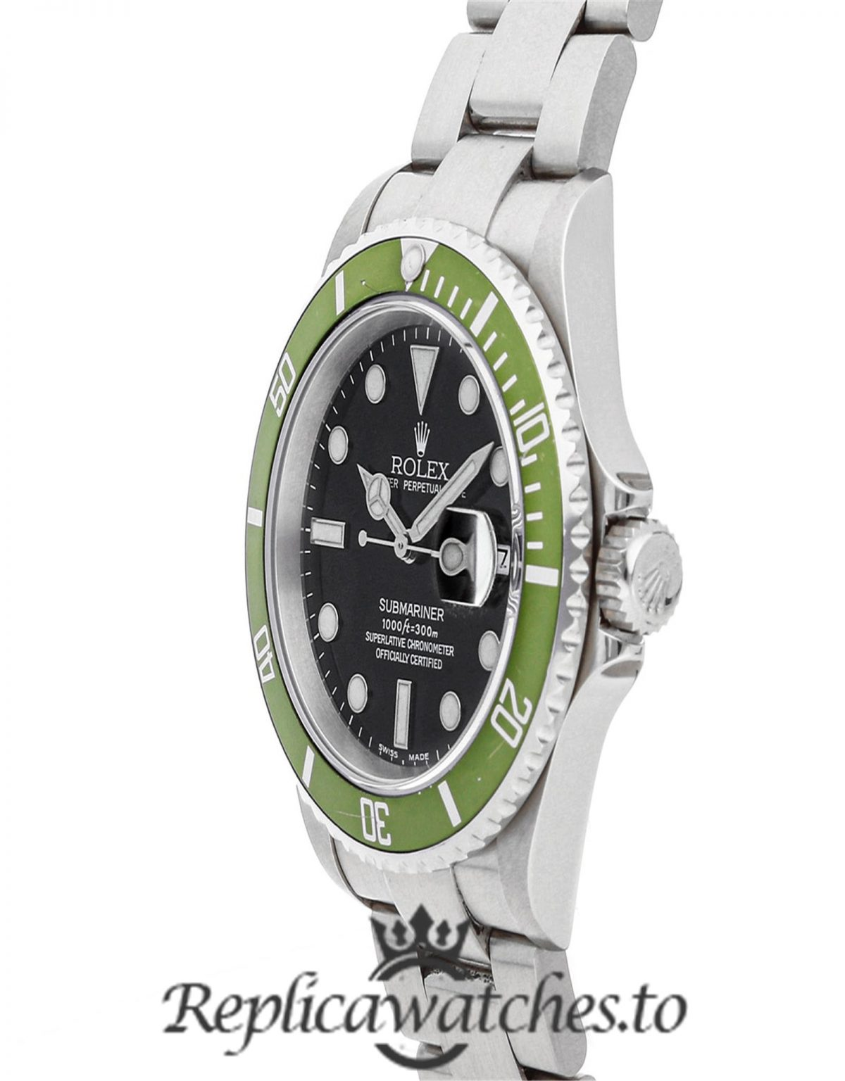 Rolex Submariner Replica 16610LV Green Bezel 40MM