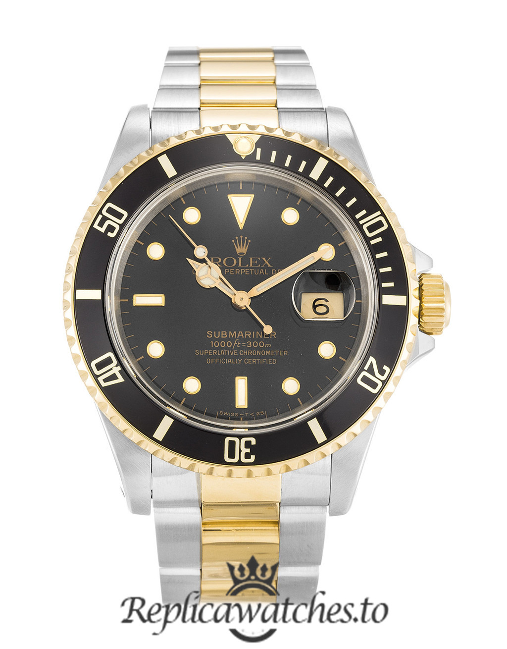 Rolex Submariner Replica 16613 Black Bezel 40MM