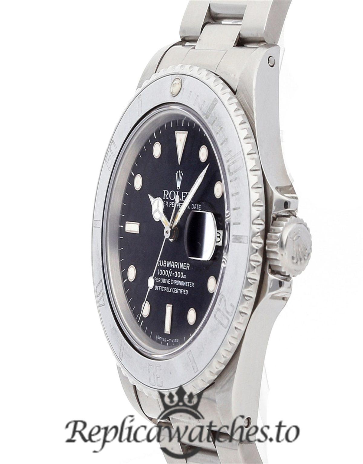 Rolex Submariner Replica 16800 001 Silver Strap 40MM