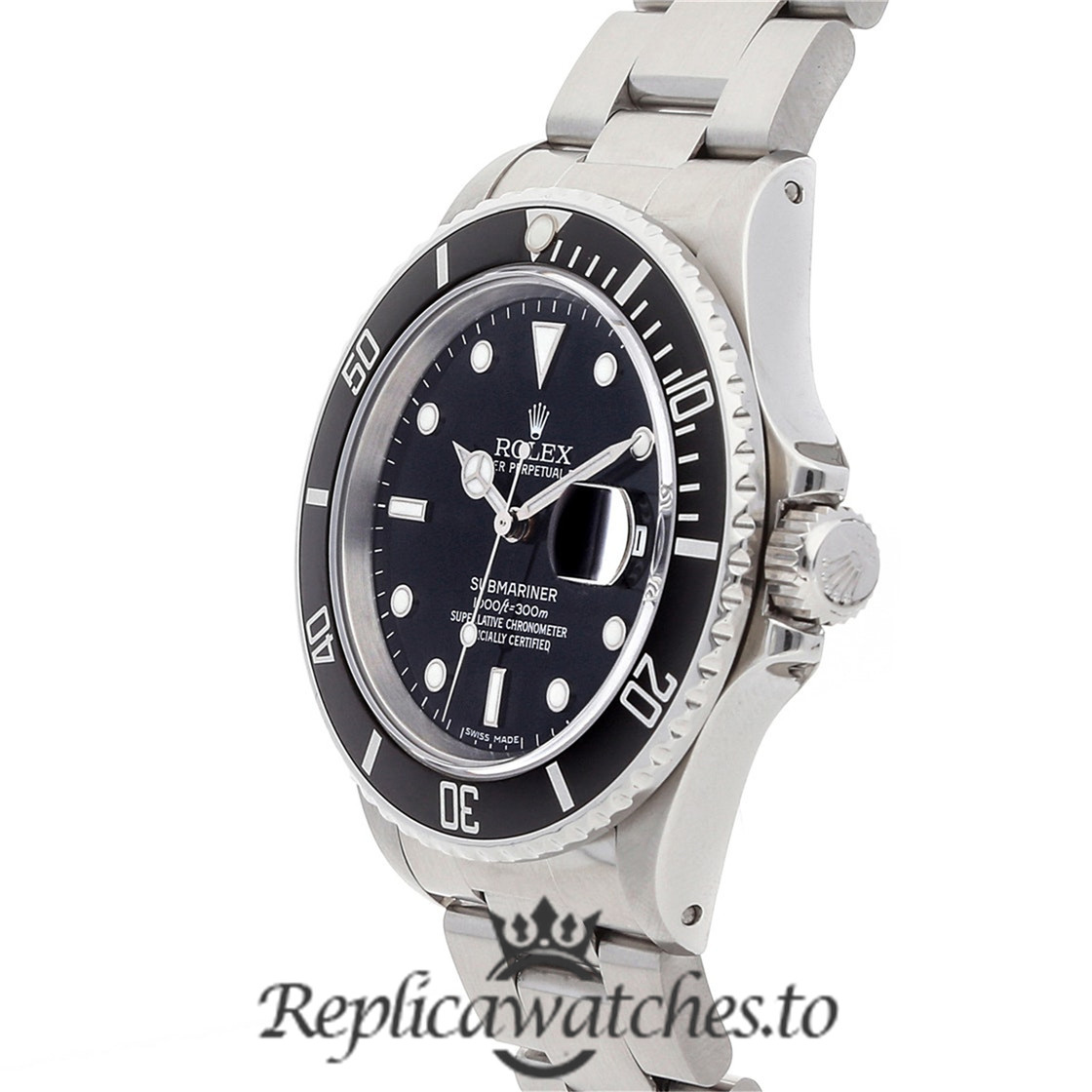 Rolex Submariner Replica 16800 Black Bezel 40MM