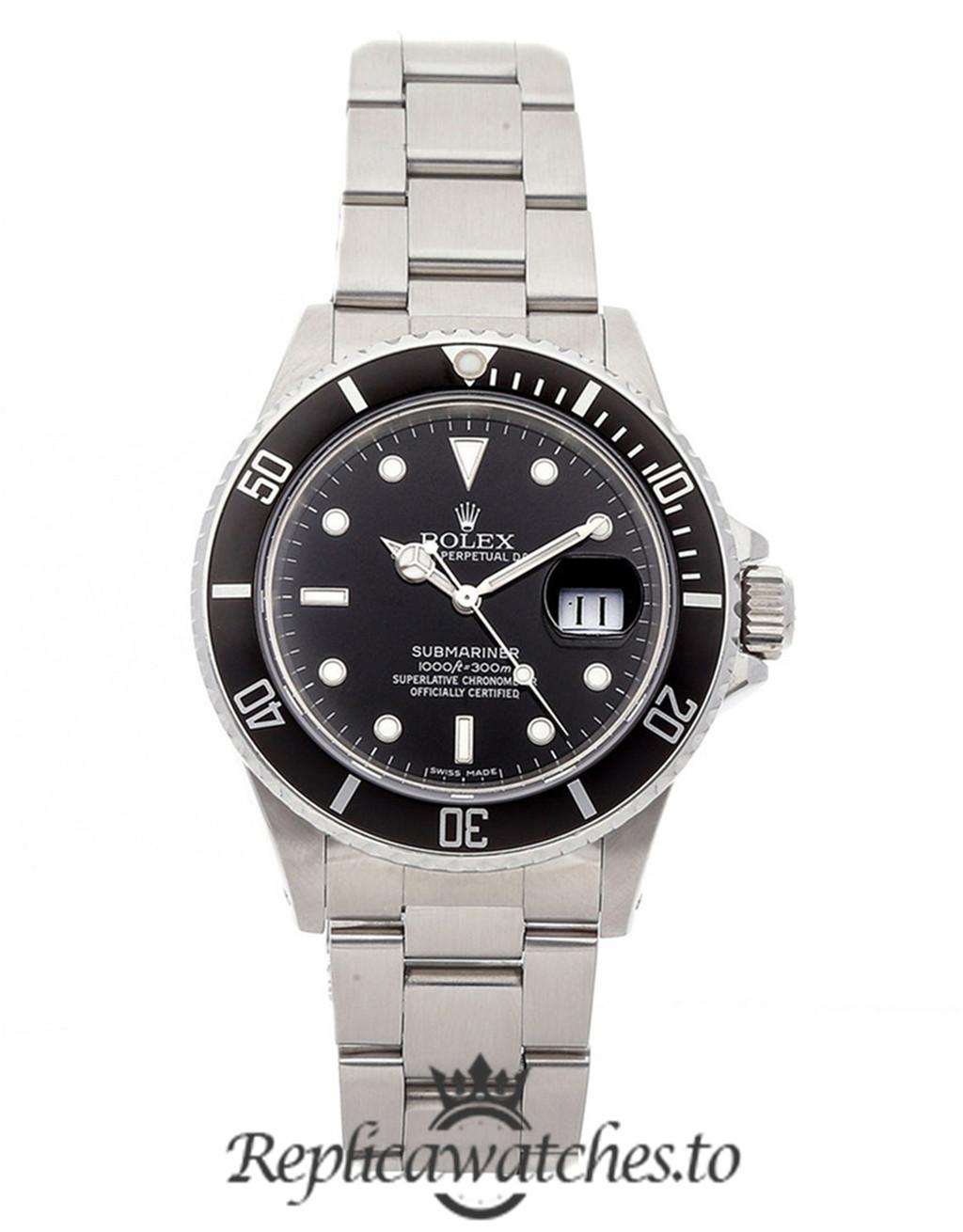 Rolex Submariner Replica 16800 Black Bezel 40MM