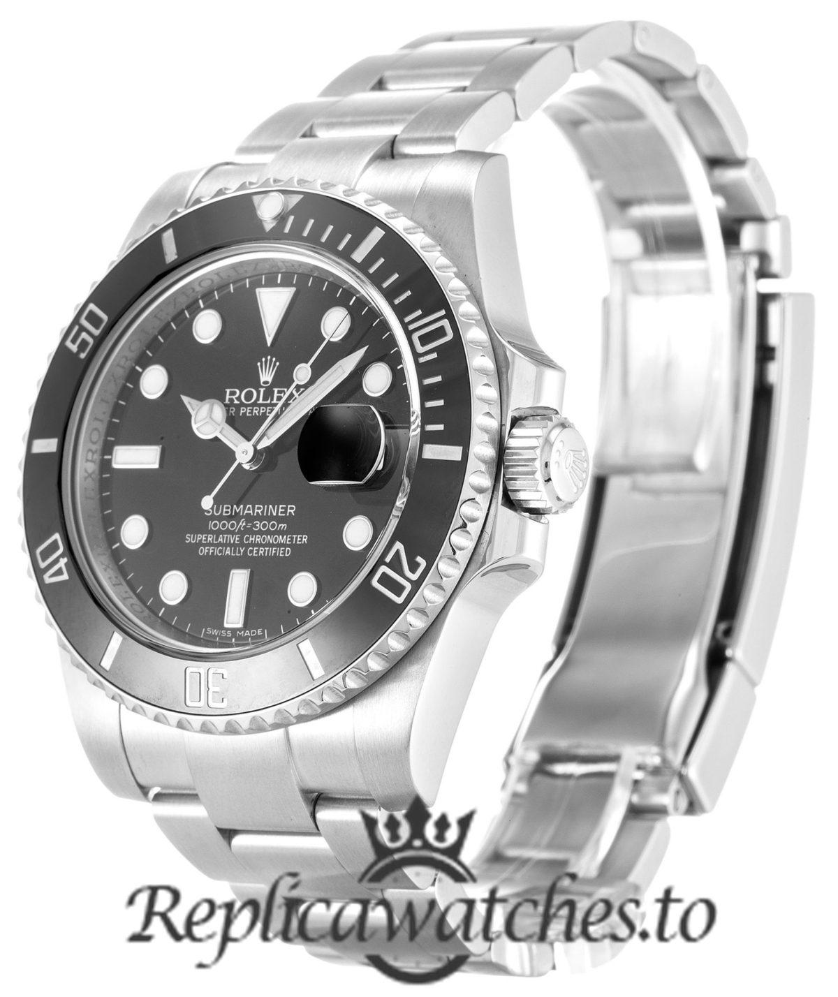 Rolex Submariner Mens Replica 116610 LN Black Bezel 40MM