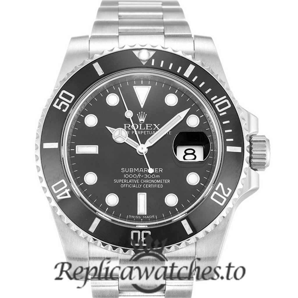 Rolex Submariner Mens Replica 116610 LN Black Bezel 40MM