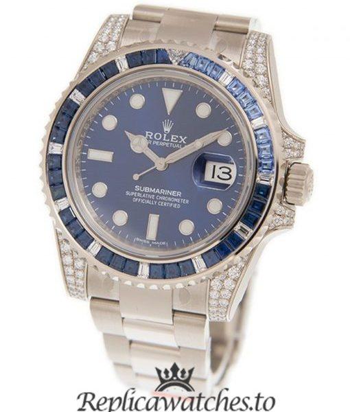 Rolex Submariner Unisex Replica 116710BLNR Blue Dial 40MM