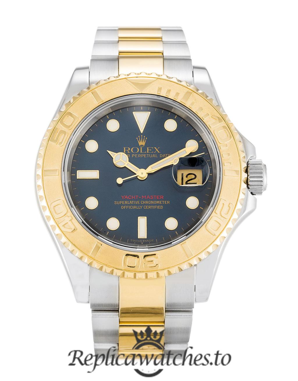 Rolex Yacht Master Replica 16623 001 Yellow Gold Bezel 40MM