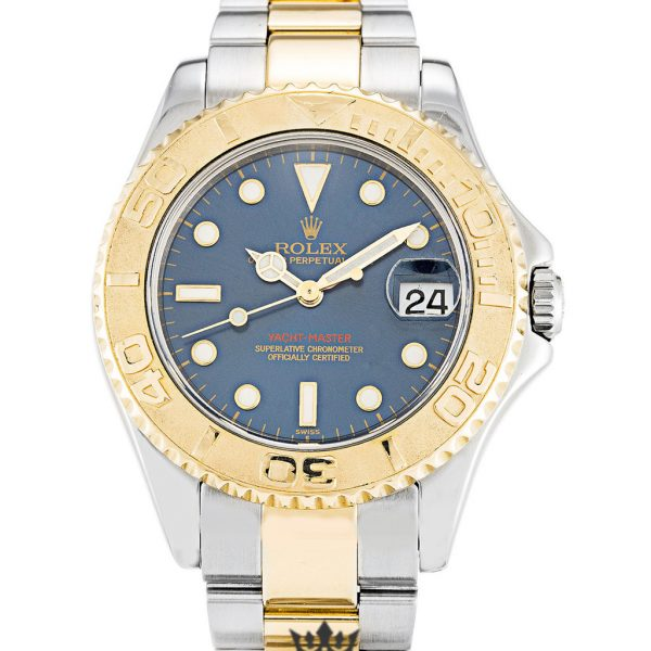Rolex Yacht Master Replica 168623 Yellow Gold Bezel 35MM