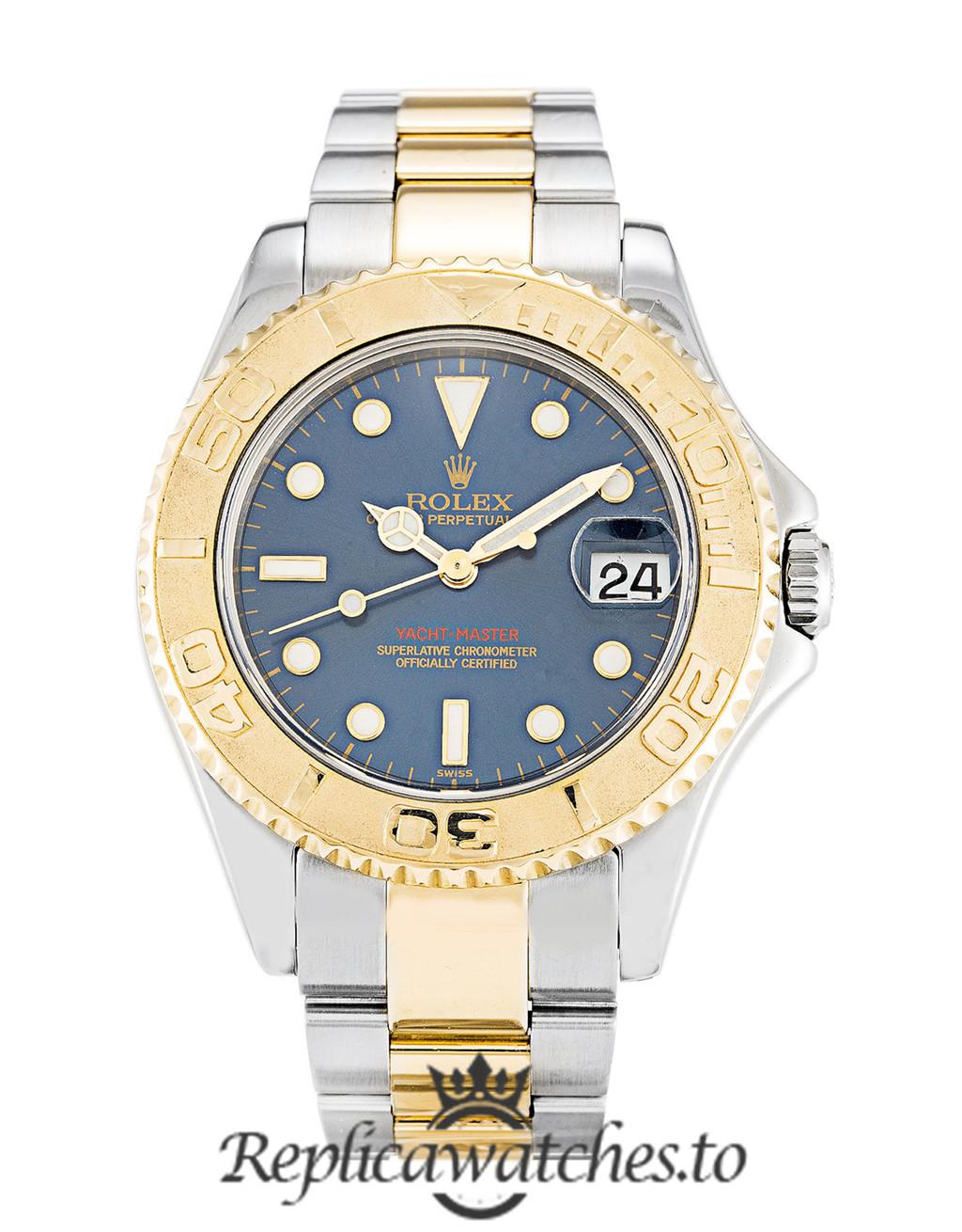 Rolex Yacht Master Replica 168623 Yellow Gold Bezel 35MM