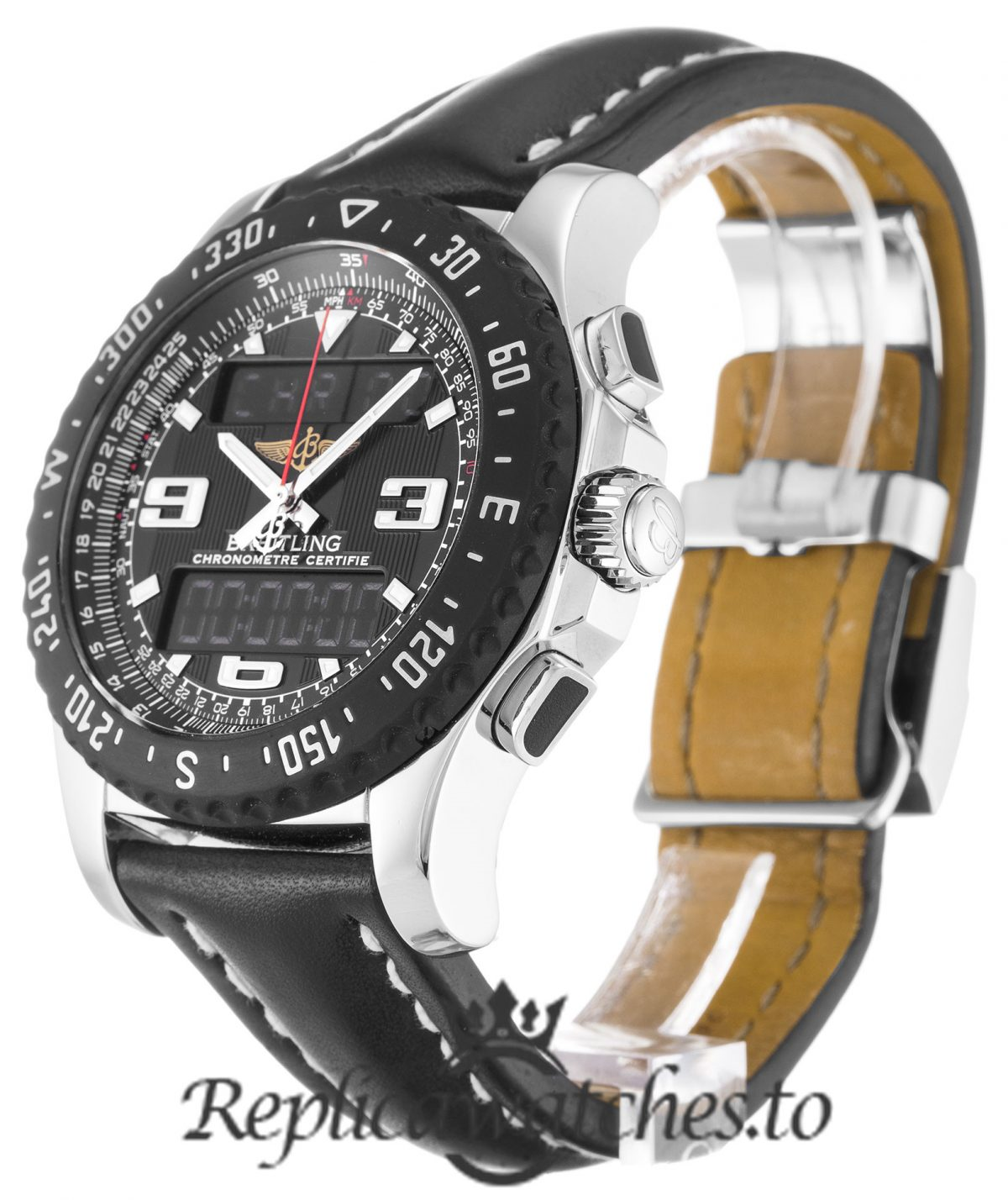 Breitling Bentley Replica A78364 Black Strap 43.5MM