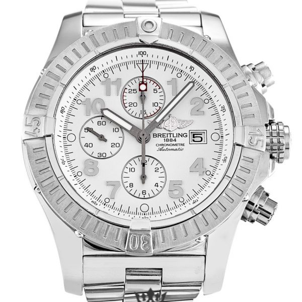 Breitling Chrono Avenger Replica A13370 001 White Dial 48.4MM