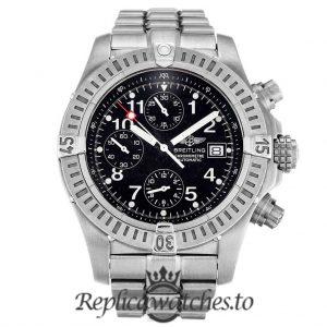 Breitling Chrono Avenger Replica E13360 Black Dial 44MM