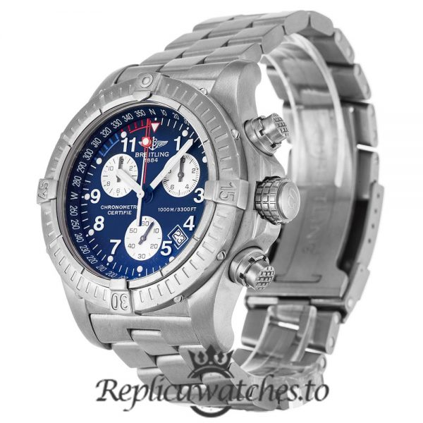Breitling Chrono Avenger Replica E73360 Blue Dial 44MM