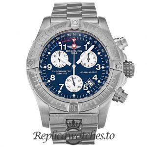 Breitling Chrono Avenger Replica E73360 Blue Dial 44MM