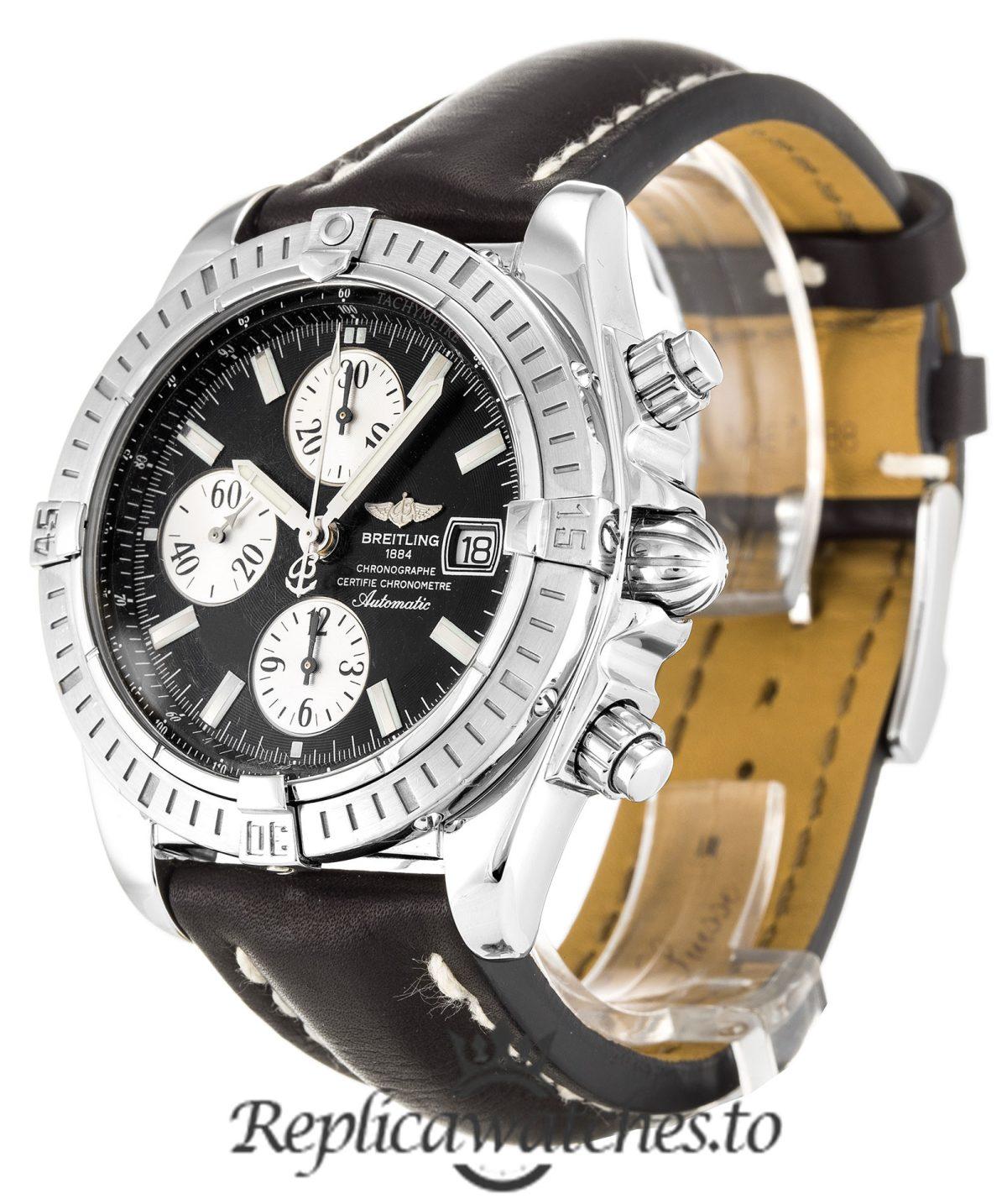 Breitling Chronomat Replica A13356 Black Dial 43.7MM