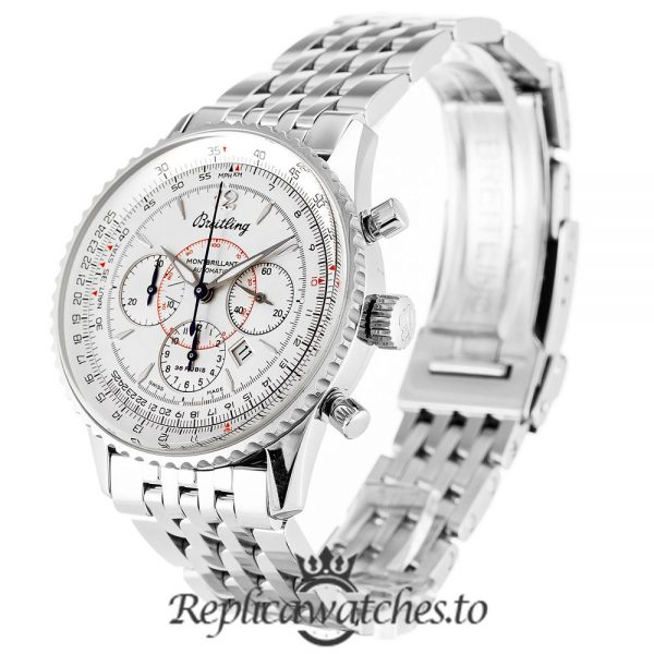 Breitling Montbrillant Replica A41330 White Dial 38MM
