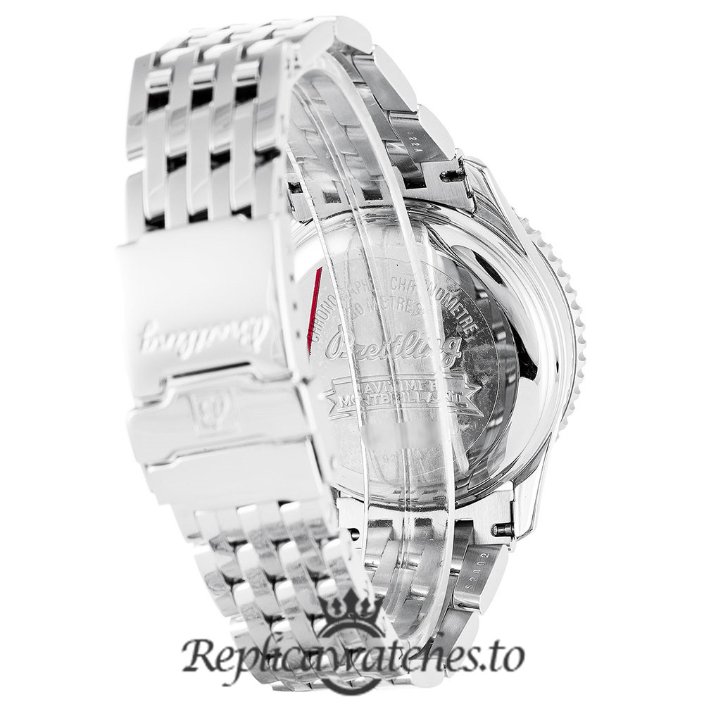 Breitling Montbrillant Replica A41330 White Dial 38MM
