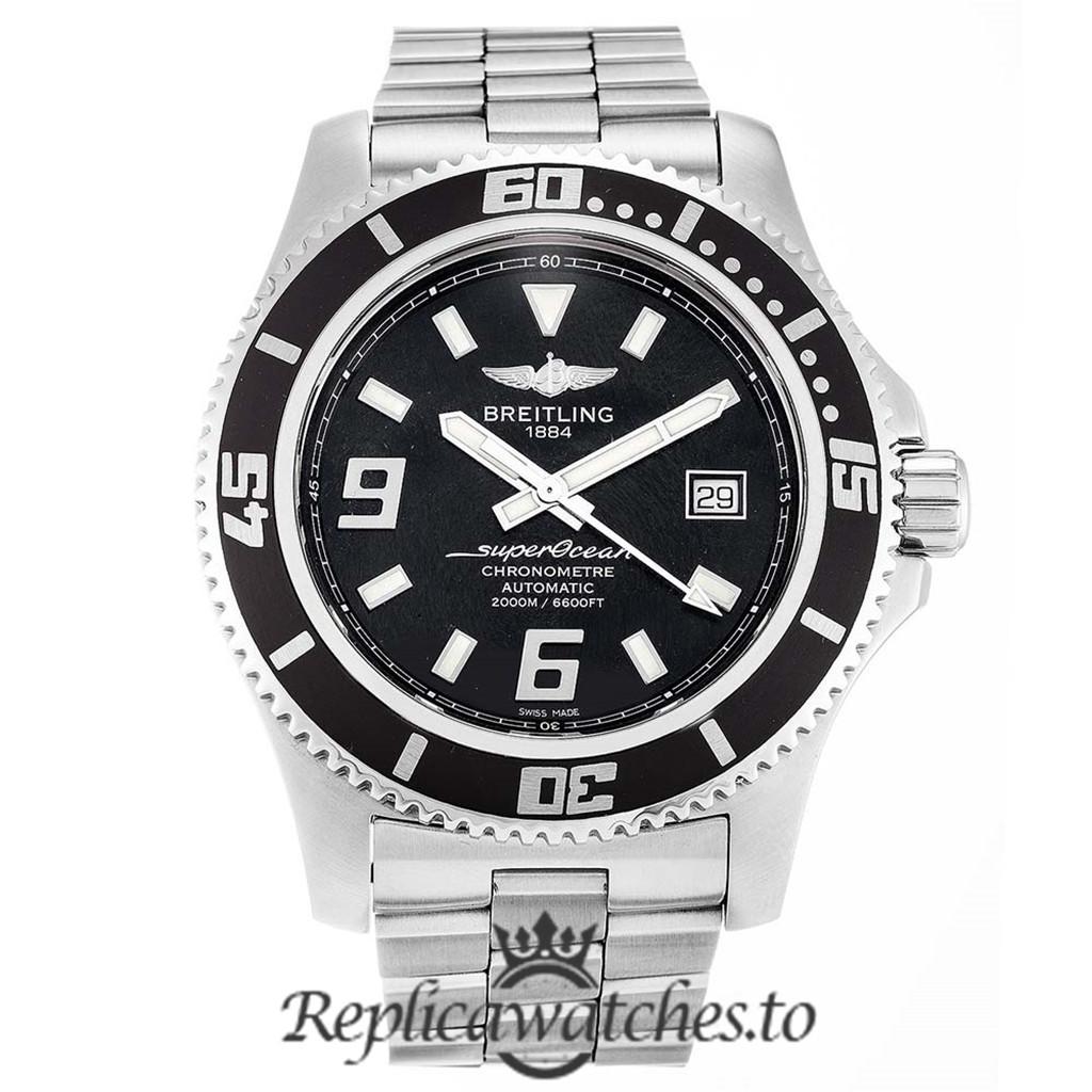 Breitling Superocean Replica A17391 Black Dial 44MM