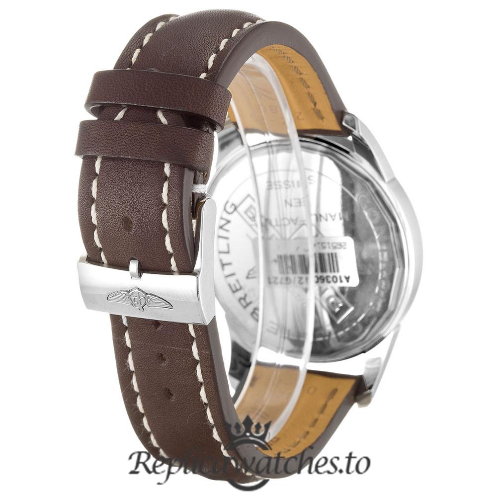 Breitling Transocean Replica A10360 Silver Dial 43MM