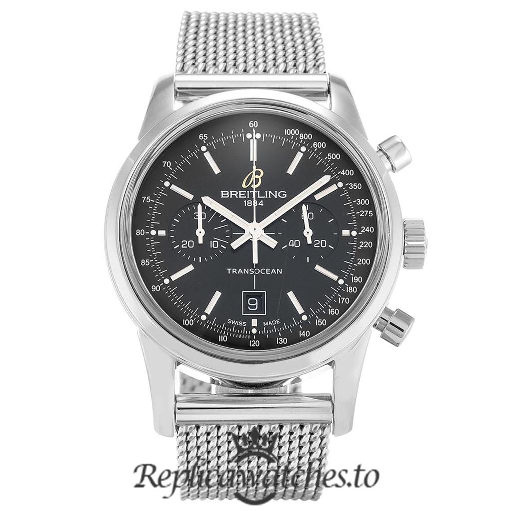 Breitling Transocean Chronograph Replica A41310 Black Dial 38MM