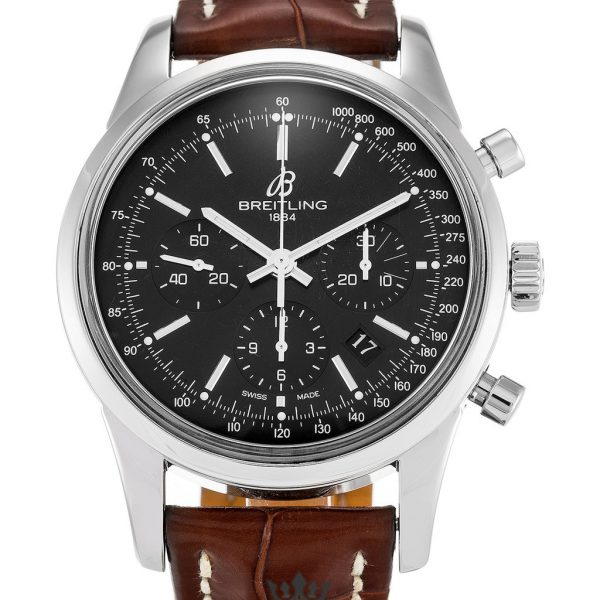 Breitling Transocean Chronograph Replica AB0152 002 Black Dial 43MM