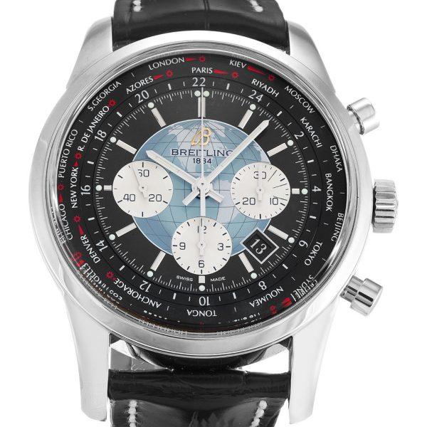 Breitling Transocean Chronograph Replica AB0510 001 Black Dial 46MM