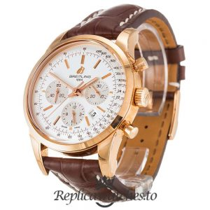 Breitling Transocean Chronograph Replica RB0152 White Dial 43MM