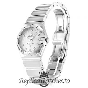 Omega Constellation Replica 123.10.24.60.55.002 White Dial 24MM