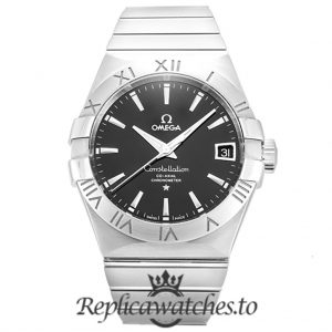 Omega Constellation Replica 123.10.38.21.01.001 Black Dial 38MM