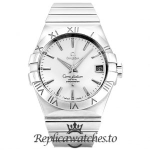Omega Constellation Replica 123.10.38.21.02.001 Silver Dial 38MM