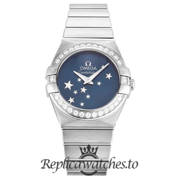 Omega Constellation Replica 123.15.24.60.03.001 Blue Dial 24MM