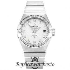 Omega Constellation Replica 123.15.27.20.55.001 White Dial 27MM