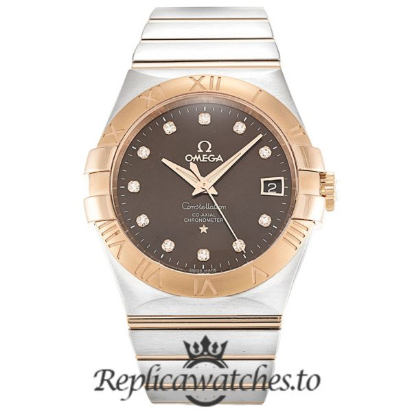 Omega Constellation Replica 123.20.35.20.63.001 Brown Dial 35MM