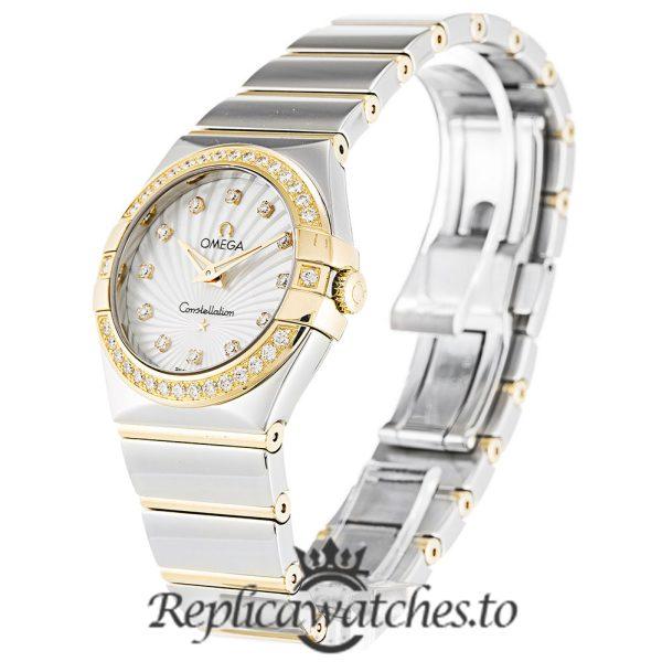 Omega Constellation Replica 123.25.27.60.55.008 White Dial 27MM