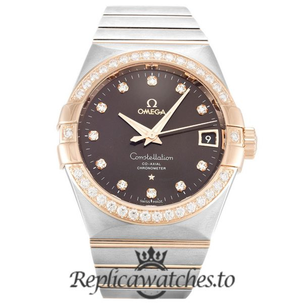 Omega Constellation Replica 123.25.38.21.63.001 Brown Dial 38MM