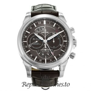 Omega De Ville Replica 422.13.44.52.13.001 Brown Dial 44MM