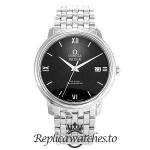 Omega De Ville Replica 424.10.37.20.01.001 Black Dial 36.8MM
