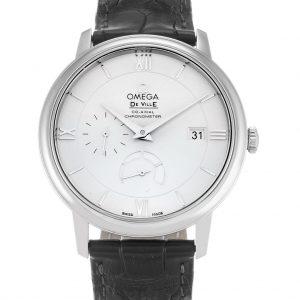 Omega De Ville Replica 424.13.40.21.02.001 Silver Dial 39.5MM