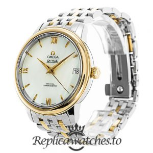 Omega De Ville Replica 424.20.33.20.05.001 White Dial 32.6MM