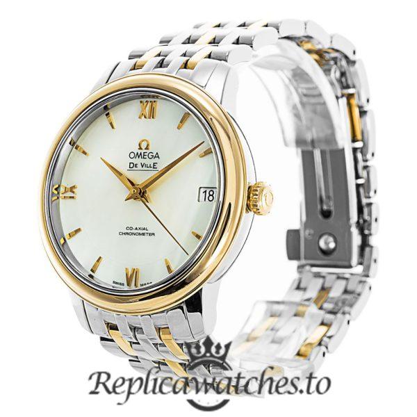 Omega De Ville Replica 424.20.33.20.05.001 White Dial 32.6MM