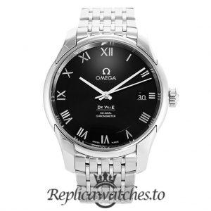 Omega De Ville Replica 431.10.41.21.01.001 Black Dial 41MM