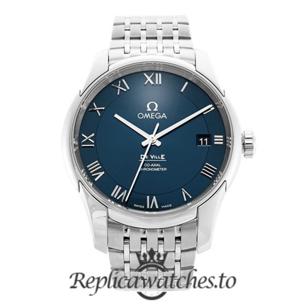 Omega De Ville Replica 431.10.41.21.03.001 Blue Dial 41MM