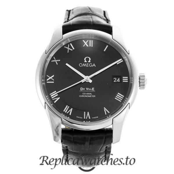 Omega De Ville Replica 431.13.41.21.01.001 Black Dial 41MM