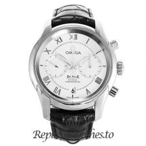 Omega De Ville Replica 431.13.42.51.02.001 Silver Dial 42MM