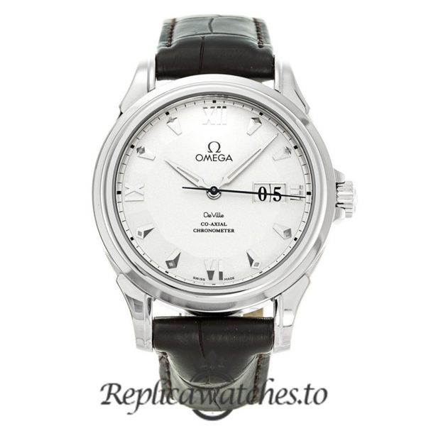 Omega De Ville Replica 4624.30.32 Silver Dial 38.6MM
