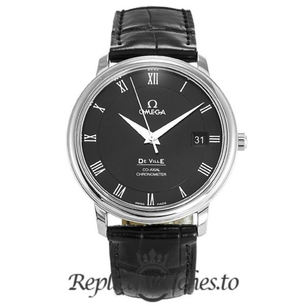 Omega De Ville Replica 4875.50.01 Black Dial 36MM