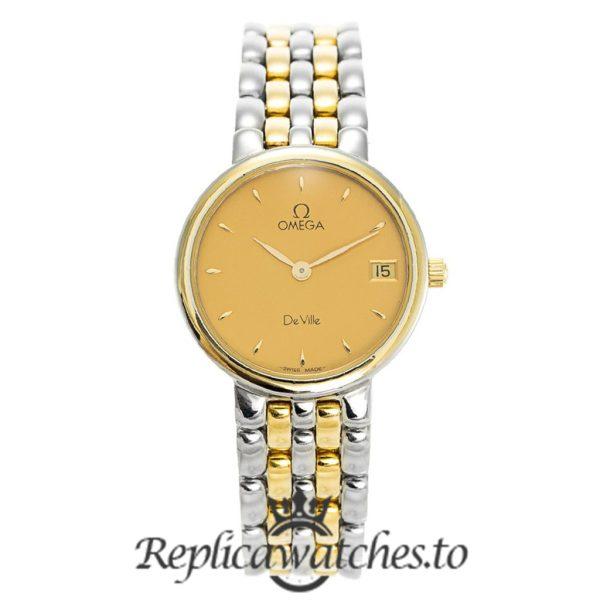 Omega De Ville Replica 7280.11.00 Champagne Dial 24MM
