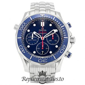 Omega Seamaster Replica 212.30.44.50.03.001 Blue Bezel 44MM