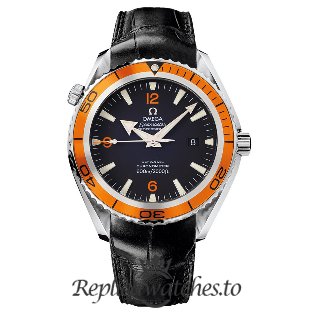 Omega Seamaster Replica 2208.50.00 Black Dial 45.5MM