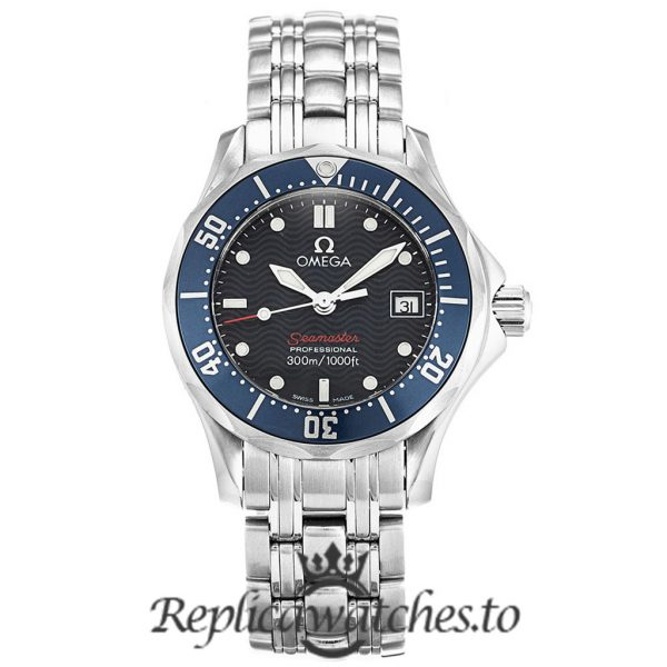 Omega Seamaster Replica 2224.80.00 Blue Dial 28MM
